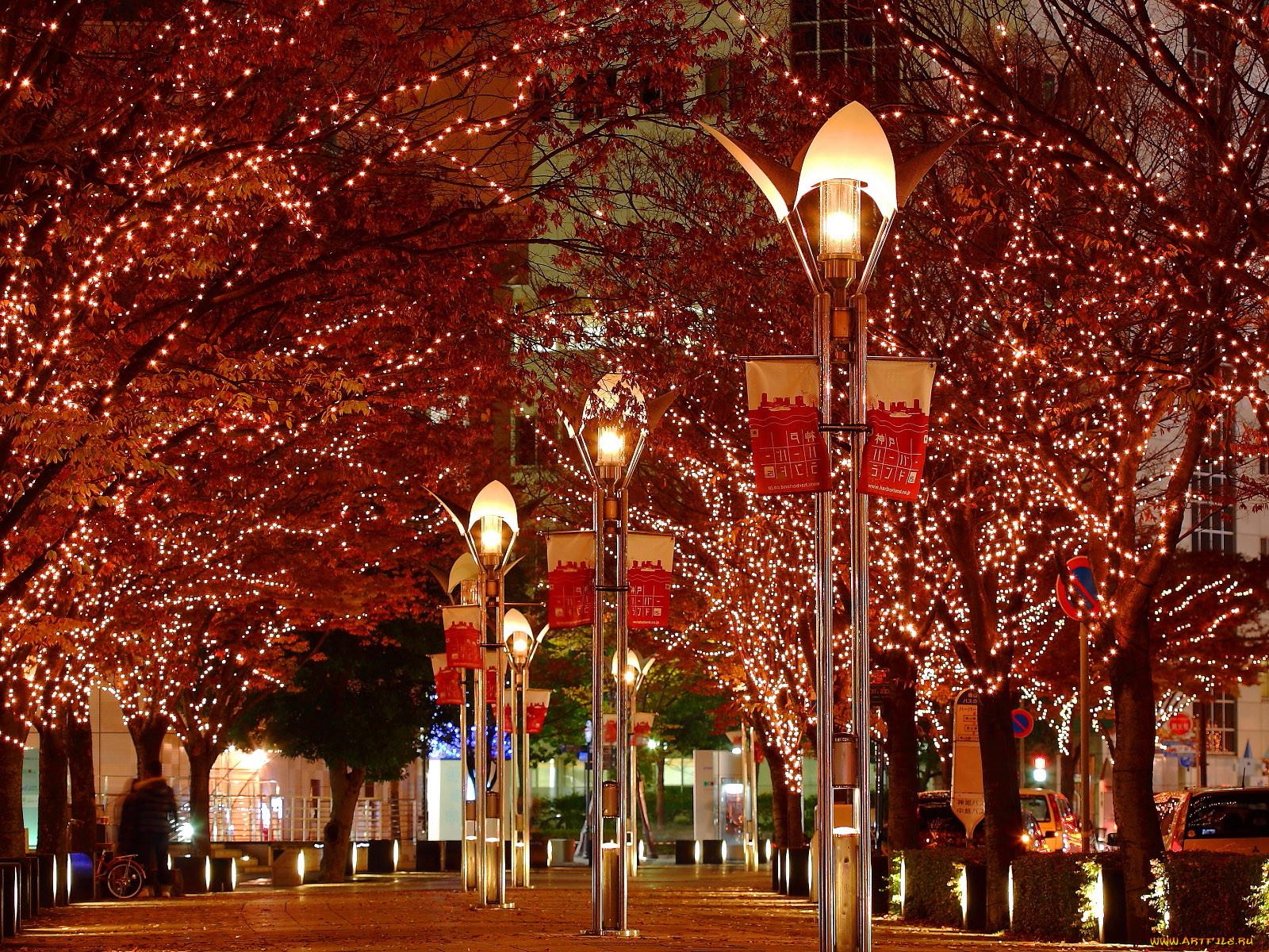 Мигающие новогодние картинки городе много